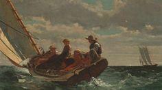 """Video on Art Babble: """"Breezing Up (A Fair Wind),"""" 1873–1876, Winslow Homer"""