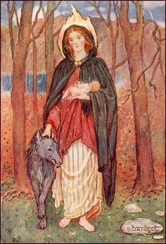 20th century painting of St. Bridget