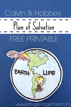 Plan of Salvation {FREE PRINTABLE} - Perfect for an FHE or a Youth Activity! Make your own Plan of Salvation! lets-get-together.com #FHE #PlanOfSalvation #freeprintable