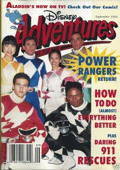 "I loved the Power Rangers!! - 25 Very '90s ""Disney Adventures"" Magazine Covers"