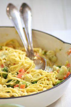 pasta fresca con verduras