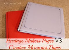 Heritage Makers Pages VS. Creative Memories Pages   Organize 365 - I am super excited to show you exactly how the Heritage Makers albums and pages compare side by side with the old Creative Memories ones.