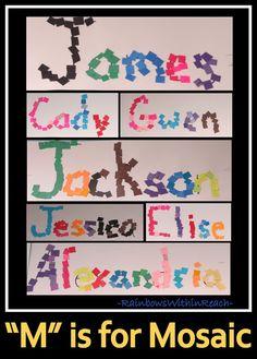 Names as Mosaics in Kindergarten