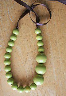 Asymmetrical Peapod Necklace
