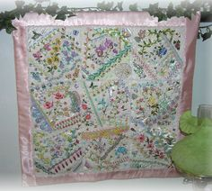 I ❤ crazy quilting . . . Floral Crazy Quilt Finished ~By Kitty And Me