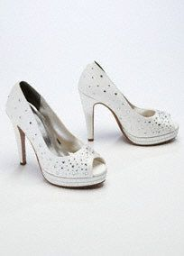 High Heel Peep Toe Platform with Crystal Detail Style VICKY  $70