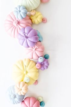 Pastel pumpkins from