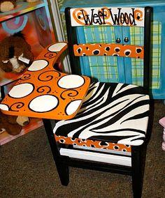 Painted school desk #painted #furniture