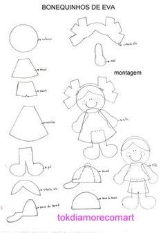Bonequinhos de eva | Artesanato Criativo