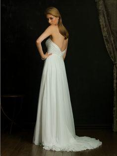 Empire Vintage Wedding Dress with Sweetheart Neckline MBD3119