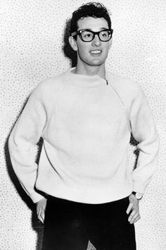 Buddy Holly. Adorable. Doesn't this look like an American Apparel ad?