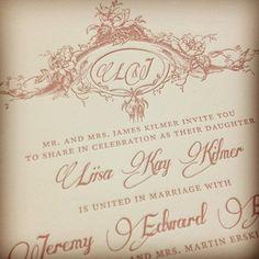 Emiria is so romantic! #letterpress #weddinginvitation