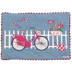 Cushion Bicycle Print