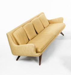 Walnut 'Venetian' Sofa | Vladimir Kagan for Kagan-Dreyfuss | 1950s