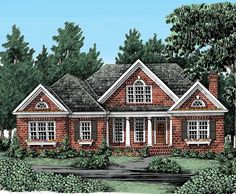 Cottage House Plan with 2289 Square Feet and 3 Bedrooms from Dream Home Source | House Plan Code DHSW50599 country houses, cottage houses, dream homes, hous plan, floor plans, plan code, squar feet, cottag hous, house plans