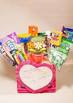 Teacher Valentines Gift Basket with Printable poem