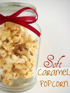 Soft Caramel Popcorn #recipe from @KatrinasKitchen