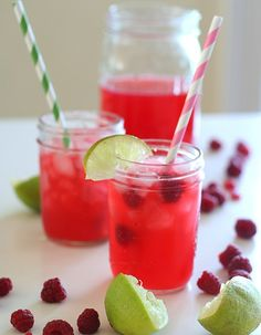 Raspberry Limeade - Low Carb and Gluten Free