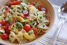 Enjoy a light, primavera pasta salad that's perfect for picnics!