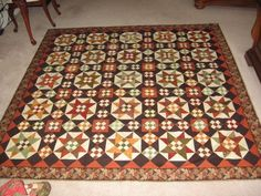 """Miss Rosie Quilt Co pattern """"Birdseye"""". Fabrics were various Civil War reproductions by Jo Morton and Judie Rothermel."""