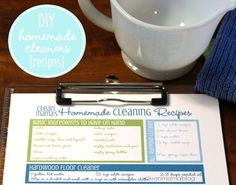 homemade cleaners recipes