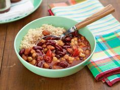Spicy Three-Bean Pantry Chili Recipe : Food Network Kitchen : Food Network - FoodNetwork.com