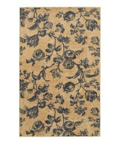 willows, pattern, rug zulili, willow floral, rug zulilyfind, rugs, blues, floral rug, blue willow