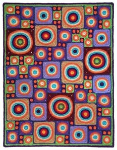 @UCrafter interviewed #crochet designer Carolyn Christmas ( @pinkmamboblog ) whose free Circle Dance Afghan crochet pattern is pictured here christmas design, danc afghan, circl danc, finish circl, christma design, carolyn christma
