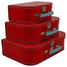Cargo Traveler Mini Suitcases, Set of 3 - contemporary - accessories and decor - Resource International Inc.