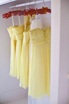 #Style Me Pretty | ethereal yellow chiffon dresses  yellow dress #2dayslook #yellow style #yellowfashiondress  www.2dayslook.com