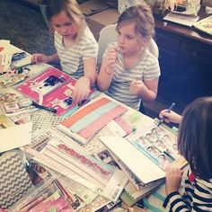 Smashbooking with the kids #smashbooking #smashbook #scraping