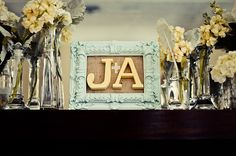 frame from tjmaxx. burlap. painted letters. fabric + sign.