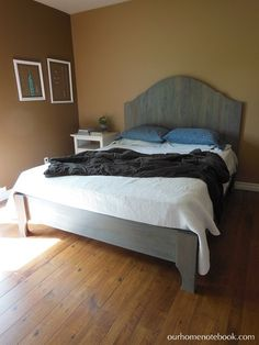 Lovely DIY wood bed!