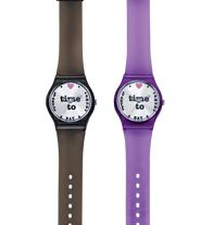 "Shop Eat and Party Watch - Time will only tell when the fun begins with this colorful watch. Embellished dial. Plastic strap, 9"" L. Regularly $29.99, buy Avon watches online at http://eseagren.avonrepresentative.com/"