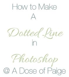 How to Make a Dotted Line in Photoshop