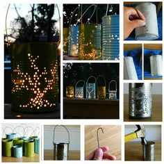 Tin Can Lanterns | 28 Outdoor Lighting DIYs To Brighten Up Your Summer