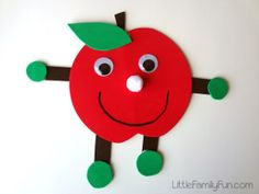 Make your kids' back to school crafts even more fun with this Adorable Apple Buddy activity. You can help break up their day with fun easy crafts that will have them super excited about the new school year. | AllFreeKidsCrafts.com