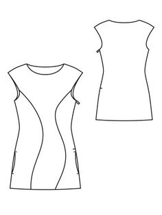 Curved tunic pattern from burdastyle