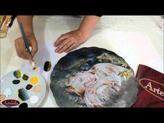 Artebella Seramik Projeleri-Kızlı Seramik tabak-Eğitmen:Gülçin GÖKSU - YouTube