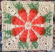 Ravelry: Daisy Flower Crochet Charity Square pattern by Krystal Nadrutach