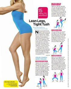 freallife: 15 minute lean leg, tight tush workout from Womens Health Mag inner-skinny Legs Workout, Lean Legs, Fit, Legs Exercise, Army Legacy, Lower Body Workout, Tights Tush, Weights Loss, Leg Workouts