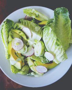 Green Goddess Salad + Dressing
