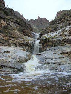 Seven Falls Sabino Canyon, Tucson AZ When in #TUCSON, do not miss the narrated tram tour up through beautiful Sabino Canyon with www.arizonasunshinetours.com Let's GO!