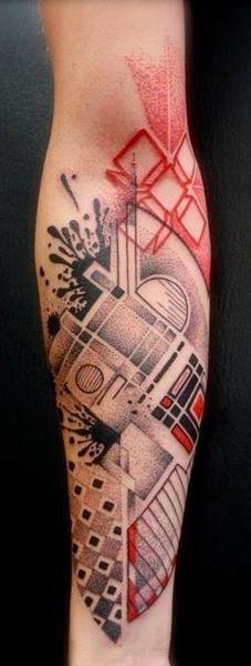 ***** arm tattoos, style tattoo, geometric shapes, abstract tattoo art, red tattoo, geometric tattoos, tattoo ink, art tattoos, red black