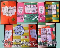 """Do you believe in magic? These """"magic section projects"""" are great to keep students engaged! {use them for book reports, end of unit projects, or any other fun end of year activity!}"""