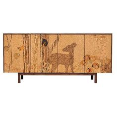 Iannone Design - Cork Forest Mosaic Sideboard Long ($3,695) ❤ liked on Polyvore