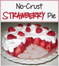 No-Crust Strawberry Pie Recipe! ~ at TheFrugalGirls.com #pies #recipes #thefrugalgirls