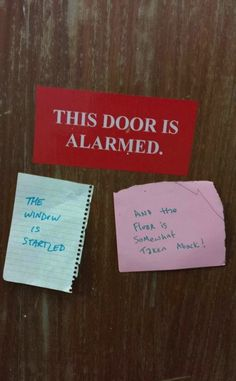 The door is alarmed! Maybe it's alarmed that it is ajar! ;-) (Humor Train)