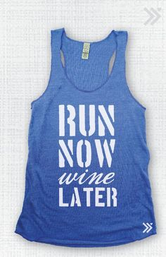 Run Now Wine Later  Eco Tank by everfitte on Etsy, $26.00