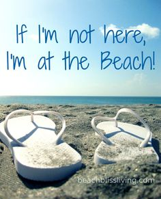 If I'm not here, I'm at the Beach!